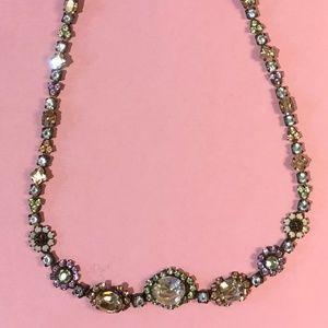 "Vintage Rhinestone Sorrelli Necklace, 19.5"""
